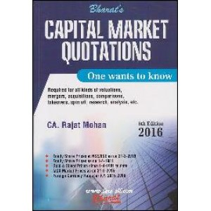 Bharat's Capital Market Quotations - One Wants to Know by CA. Rajat Mohan